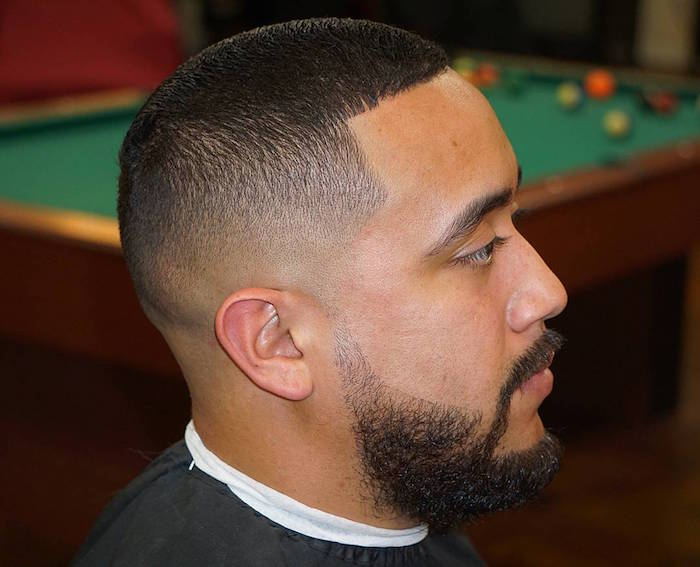 américain dégradé bas homme coupe degradee afro