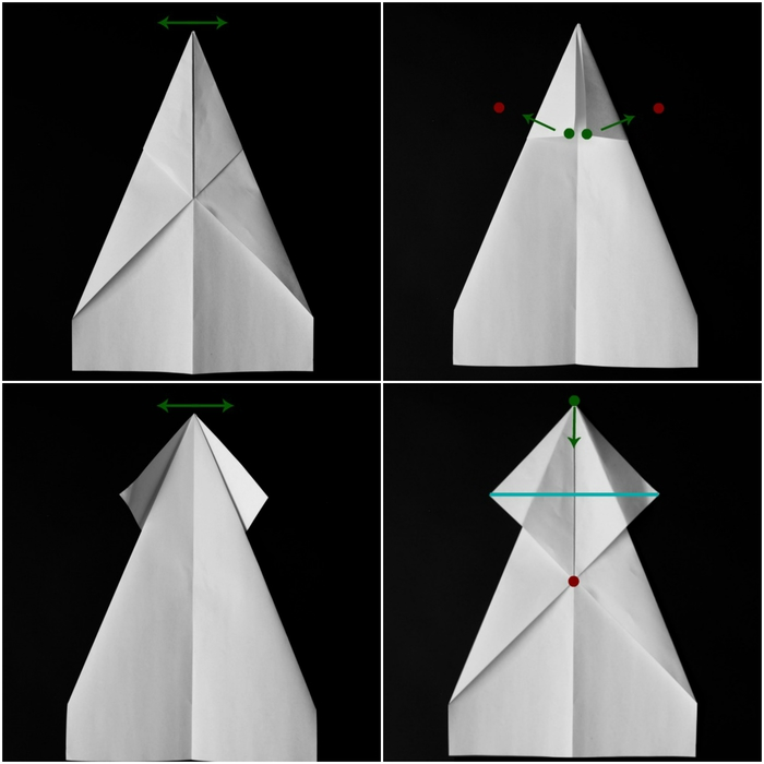 modèle d'avion qui plane au design original, tuto pliage avion papier facile à reproduire
