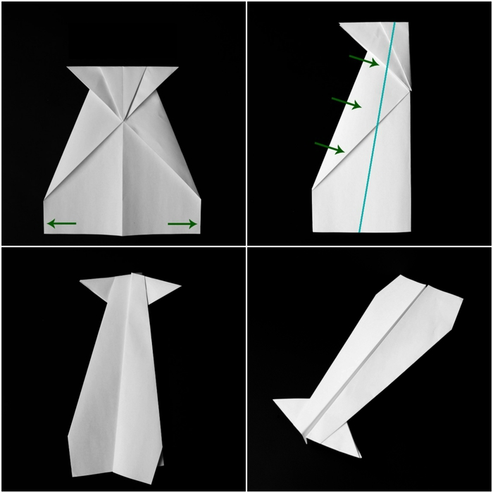 comment faire un avion origami facile qui plane, tuto de pliage papier et techniques origami de base
