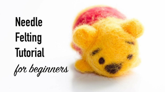 comment faire des animaux en laine, winnie the pooh, comment le faire pas à pas