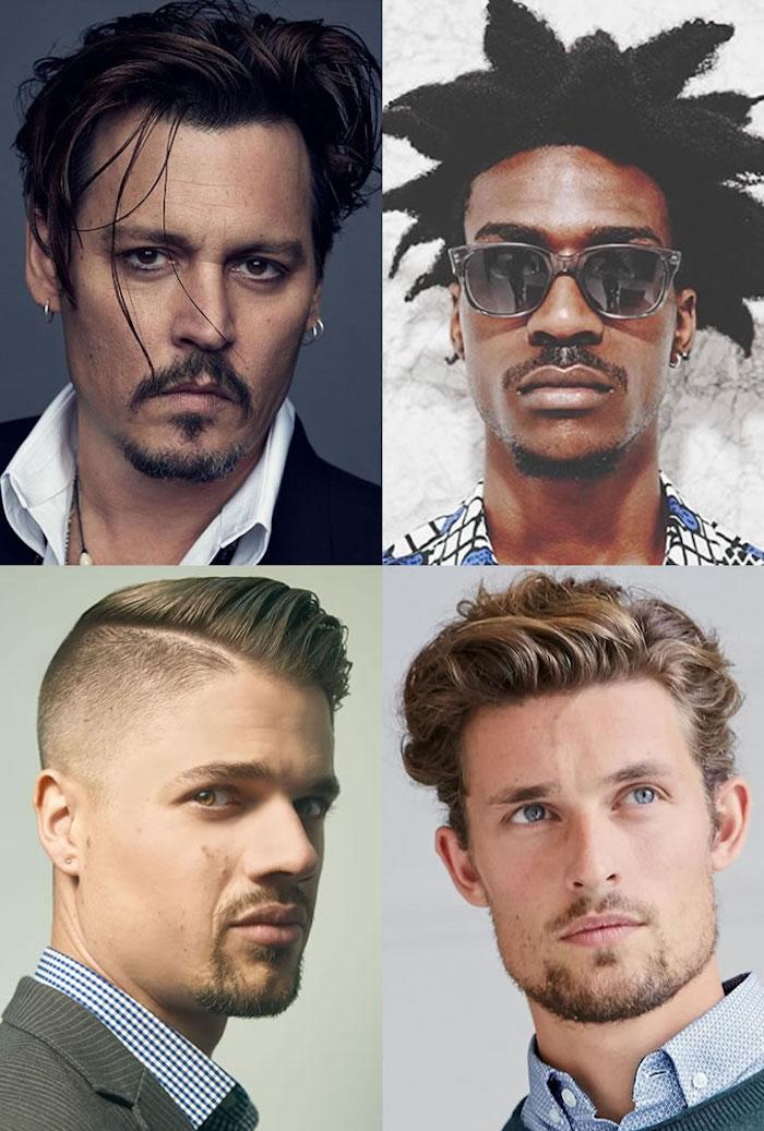 modeles boucs homme barbe en pointe fine