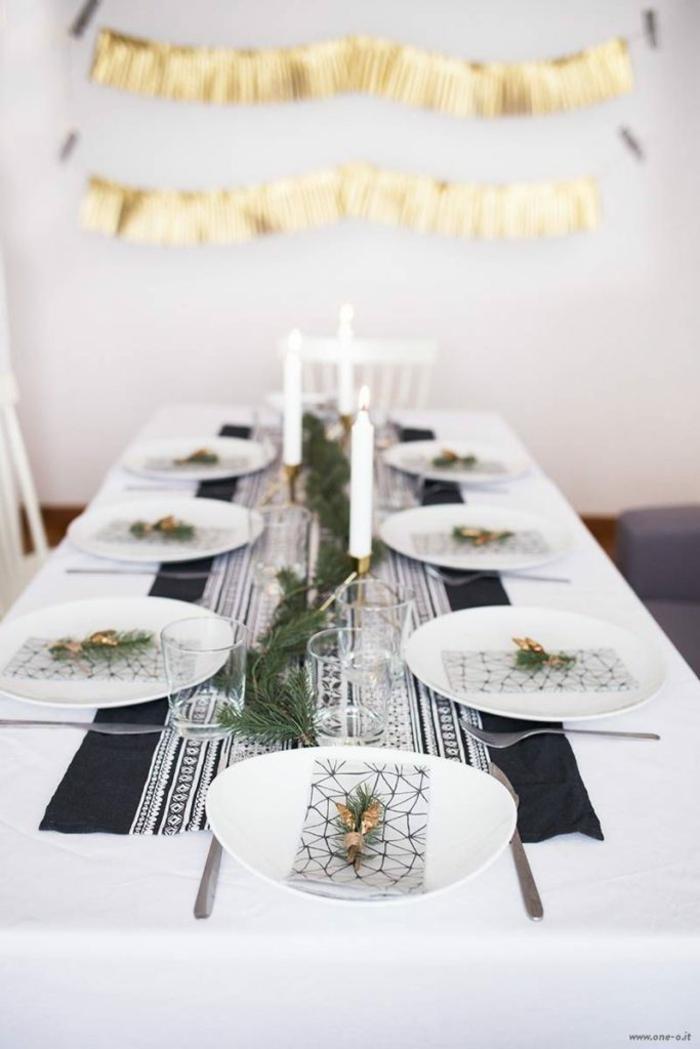 Marque place table noël décoration festive originale et facile