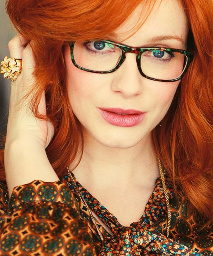 redhead lady wearing glasses is getting penetrated with passion  108188