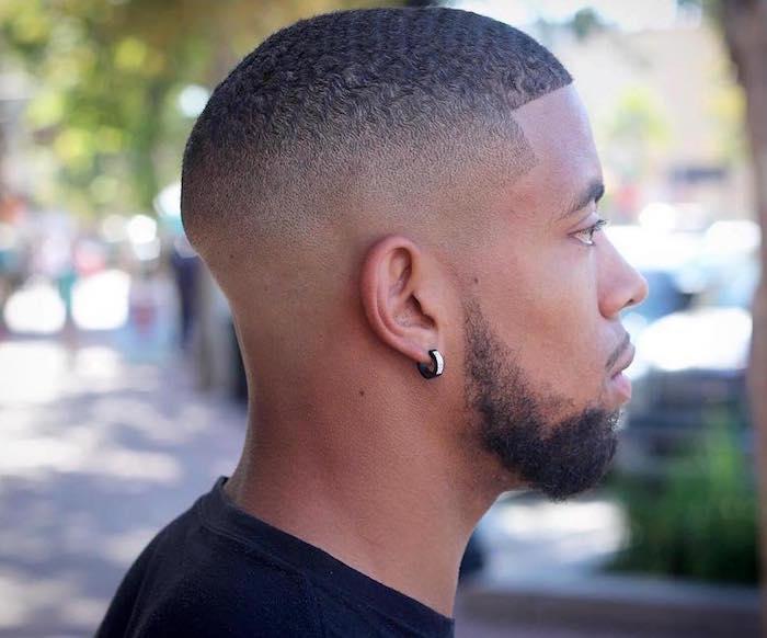 degrader homme cheveux degrade modele coiffure courte afro