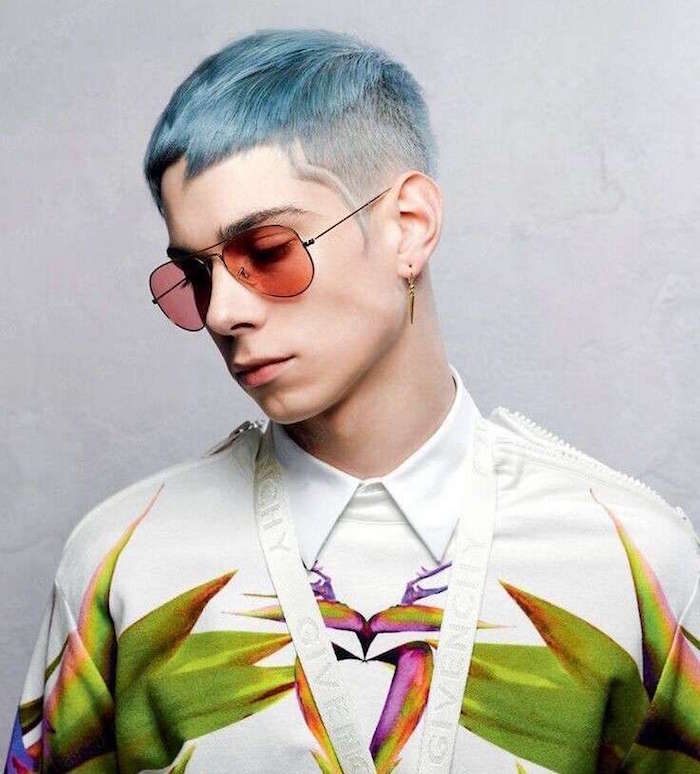 coloration cheveux homme coiffure courte hipster homme dégradée