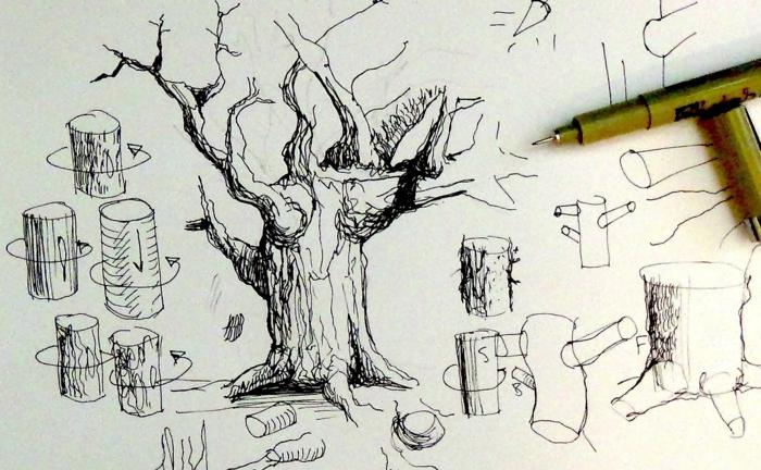 Arbre a dessiner beau dessin facil à réaliser dessin arbre