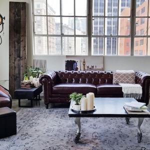 Le salon industriel - un décor qui ne craint pas d'afficher ses imperfections. Plusieurs astuces et exemples déco