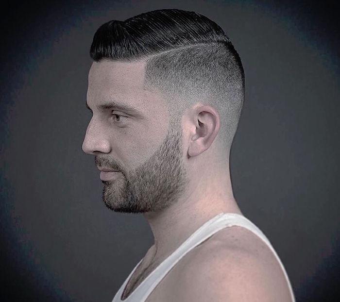 coupe de cheveux homme courte déradée tendance pompadour
