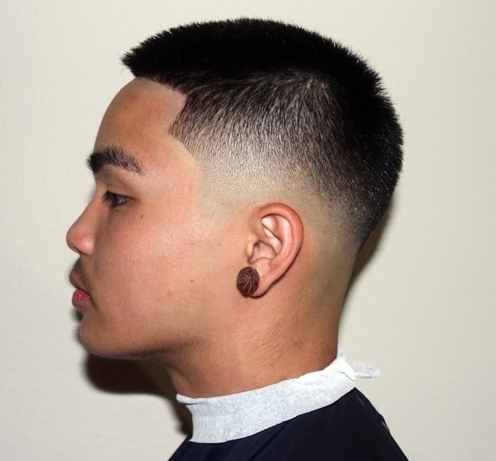 coiffures courtes degrade homme asiatique