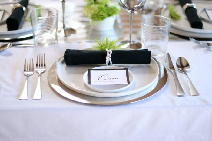 Image table de noel avec marque place noel a imprimer