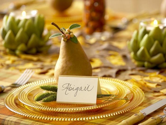 Bricolage marque place noel etiquette placement table