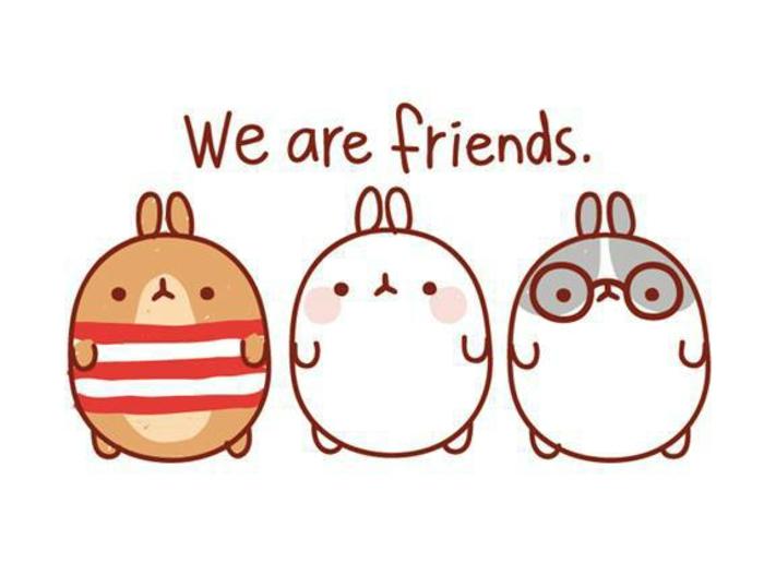 Belle image amie pour la vie meilleure ami dessin adorable animaux pour la meilleure amie