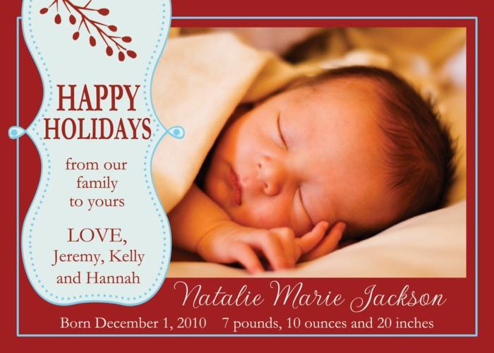 faire part de naissance, bébé qui dort, invitation personnalisée avec la date de naissance