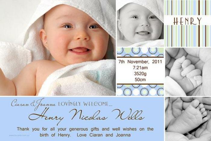faire part naissance pas cher, photographies mignonnes du nouveau né