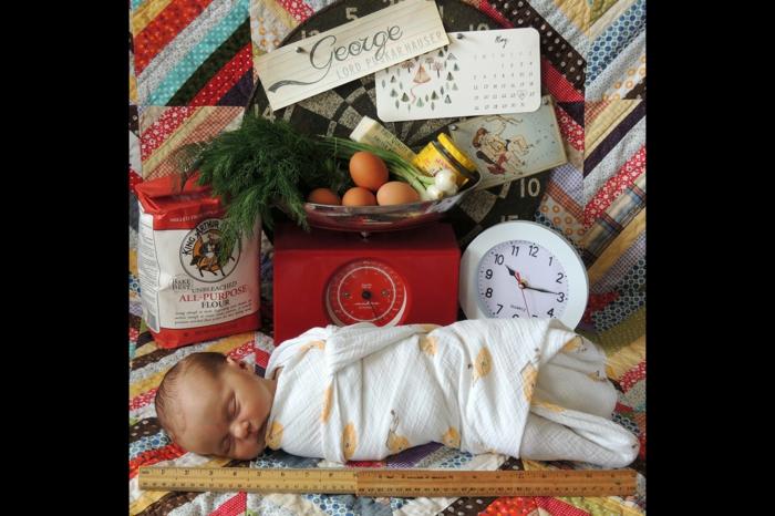 faire part naissance pas cher, composition originale, produits alimentaires et bébé