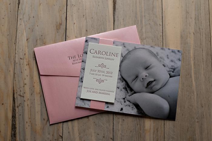 faire une carte personnalisée, la photo du bébé et les informations intéressantes