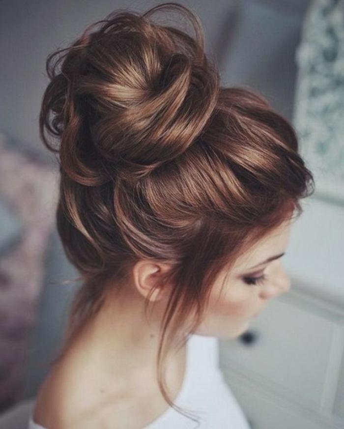 Idée coiffure cheveux mi long coiffure mariée 2017 mariage