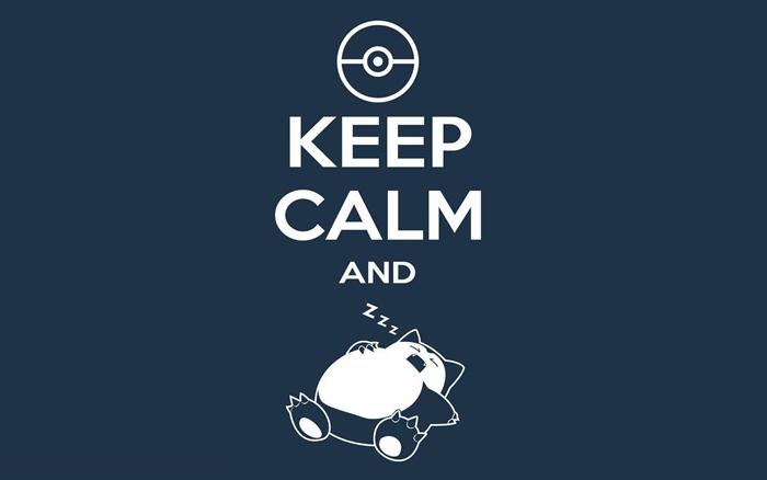 fond ecran hd, photo amusante avec citation rigolo et Pokémon endormi à fond bleu foncé
