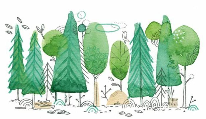 Joli arbre à dessiner idée d objet à dessiner un arbre facile