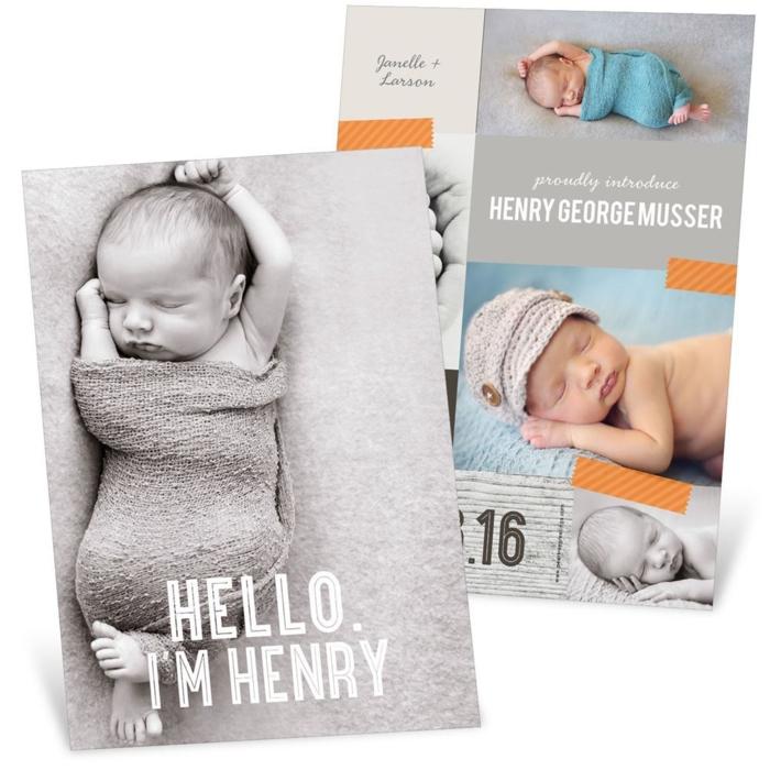idée fairt part naissance, célébrer l'événement le plus heureux, la naissance d'in bébé