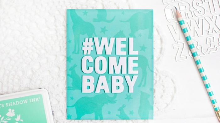idée fairt part naissance, bienvenu le petit, carte d'annoncer la naissance d'un garçon