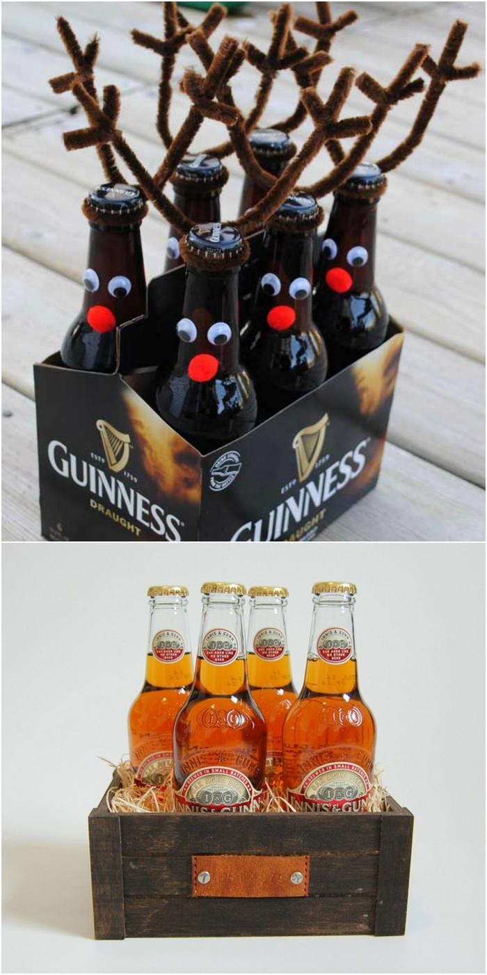 idée cadeau homme 20 ans pour les fans de la bière, offrir un coffret cadeau personnalisé de bières artisanales