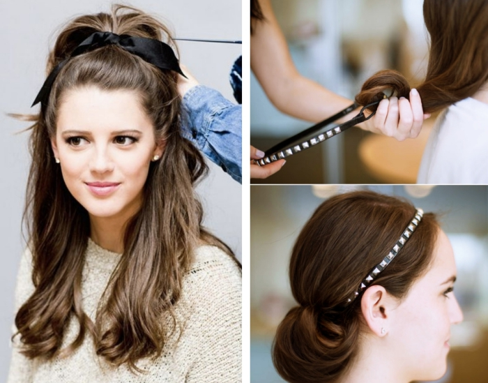 tuto coiffure headband cheveux courts hair style t. Black Bedroom Furniture Sets. Home Design Ideas