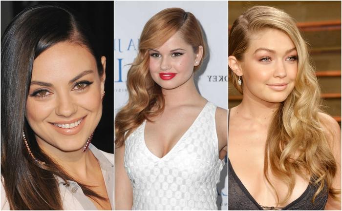 idée pour une coiffure femme sophistiquée et féminine avec des cheveux lisses ou ondulés portés de côté
