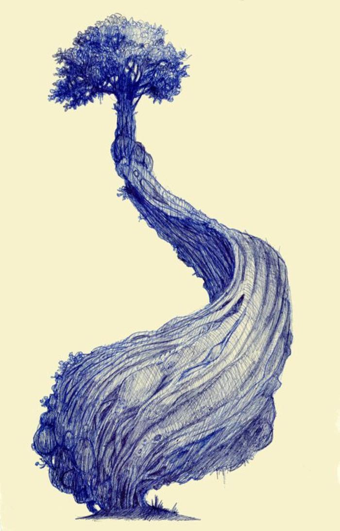 Le dessin arbre de vie arbre dessiné arbre sans feuille dessin