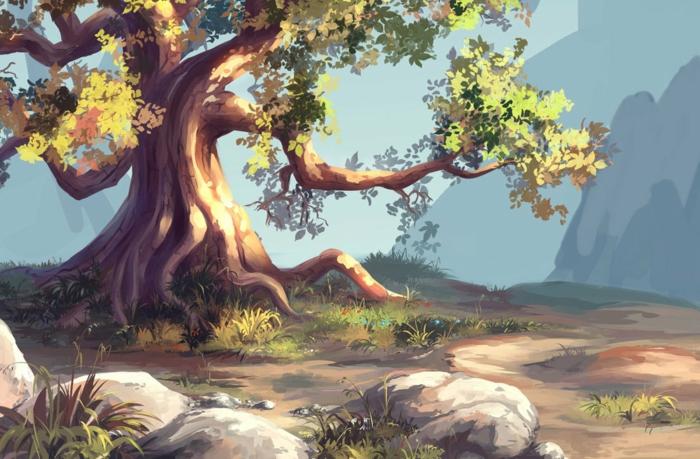 Tronc arbre dessin dessin d arbre facile dessin d arbres couleur dessin