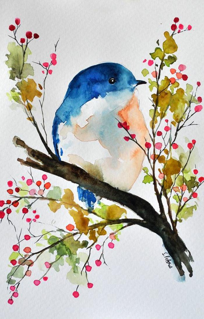 Dessin crayon paysage dessiner un pin dessins arbre branche oiseau