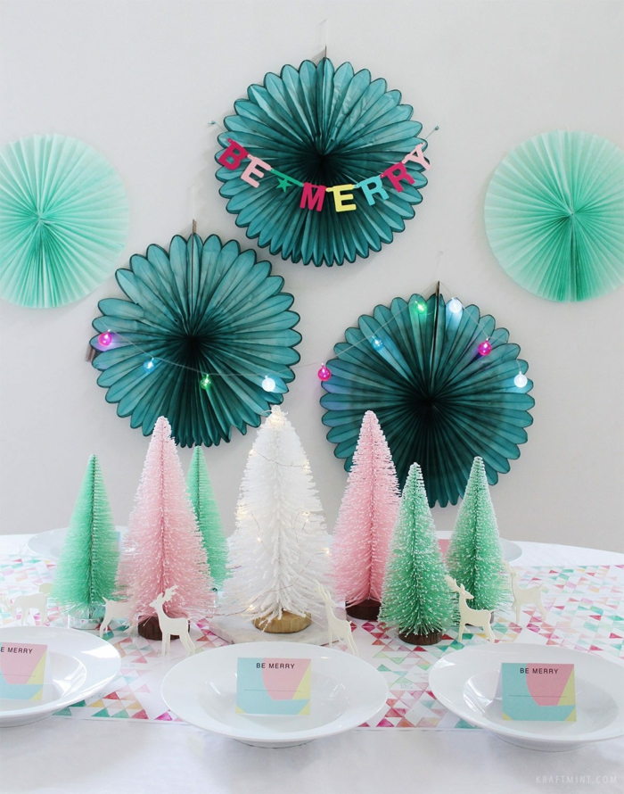 Marque place table noël décoration festive originale et facile déco sapins de noel