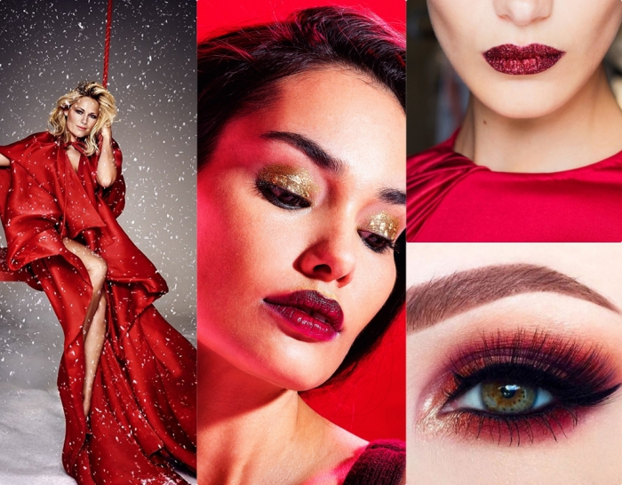 Maquillage pour robe rouge