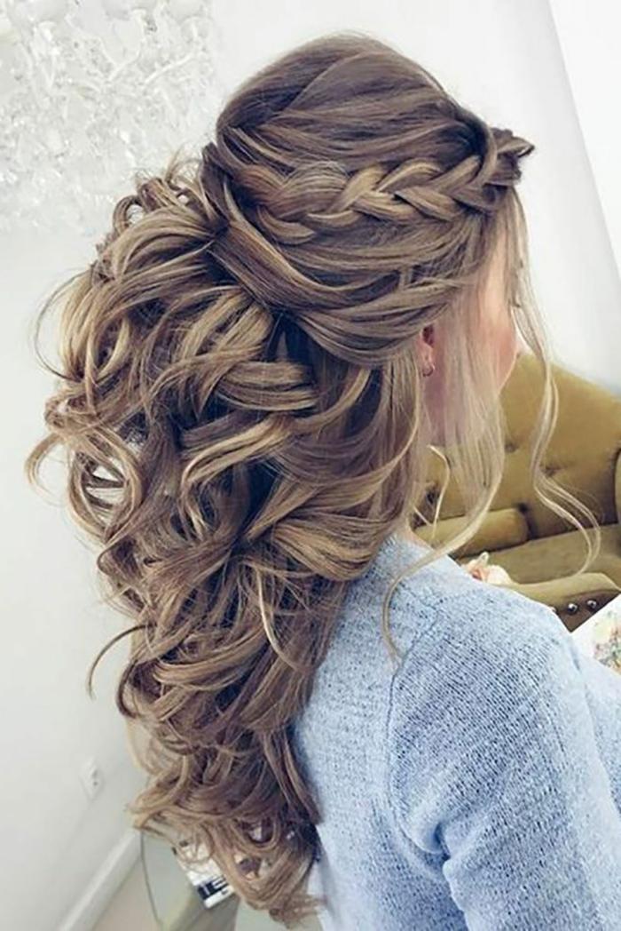 Noce coiffure mariée cheveux détachés coiffure mariée champetre