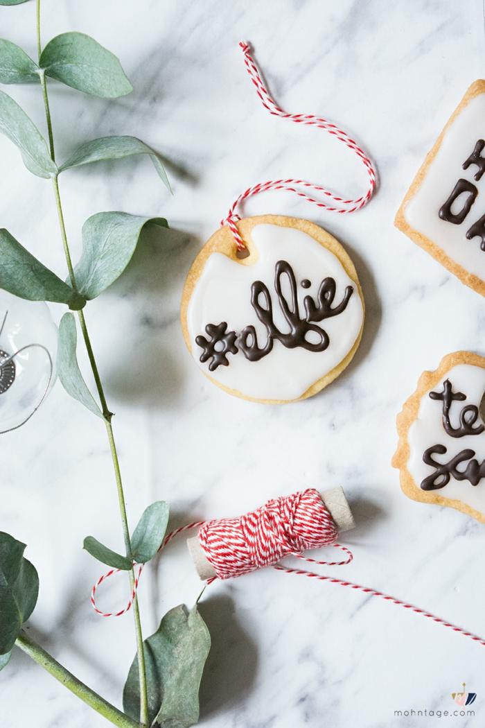 Deco table noel a fabriquer diy idée noel activité manuelle biscuits avec noms