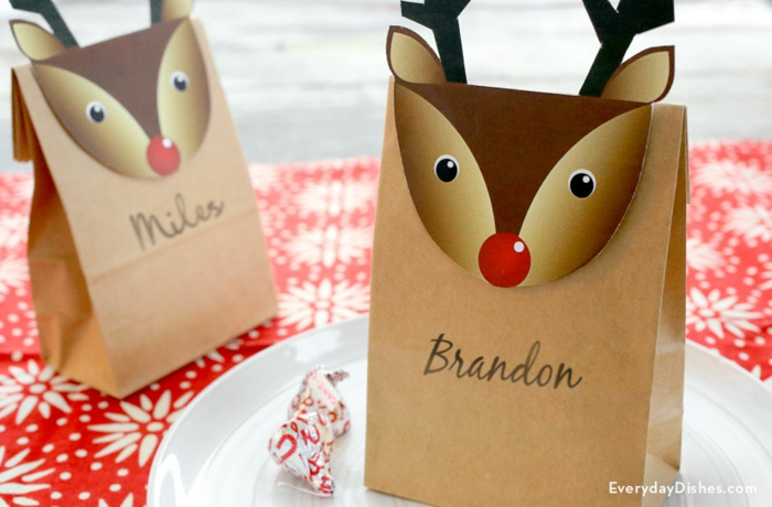 Idée quel marque place noel a faire soi meme diy simple bag