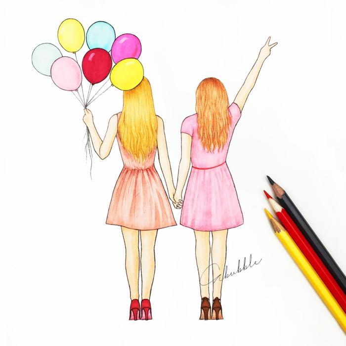 Cadeau a fabriquer pour sa meilleure amie dessin à offrir