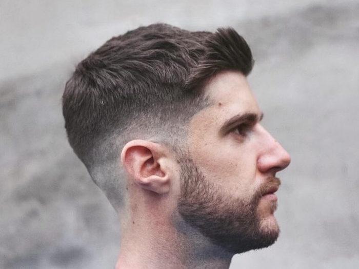 coiffure homme coupe cheveux court dégradé américain bas