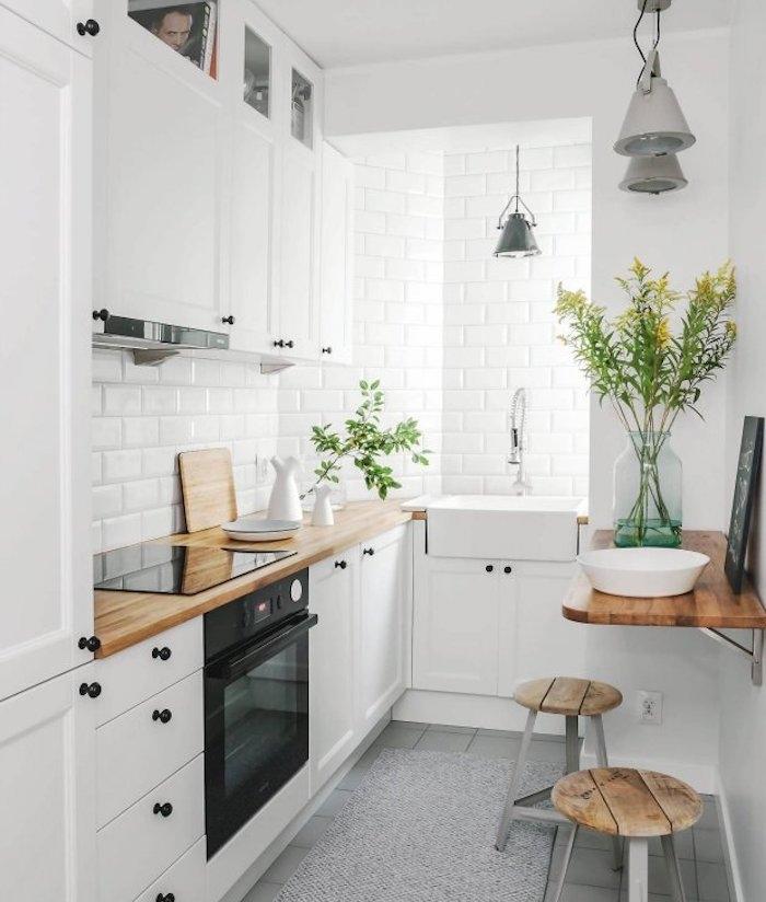 Beautiful petite cuisine blanche contemporary seiunkel for Petite cuisine blanche
