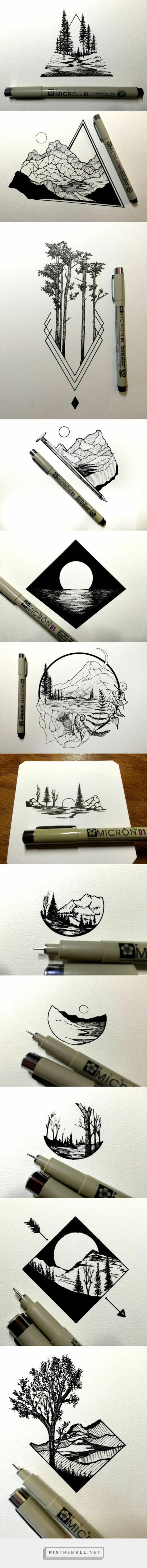 Model de dessin facile croquis au crayon dessin arbres dessins originaux