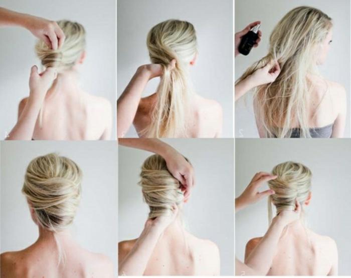 Belle mariée coiffure mariage cheveux mi long beauté chignon