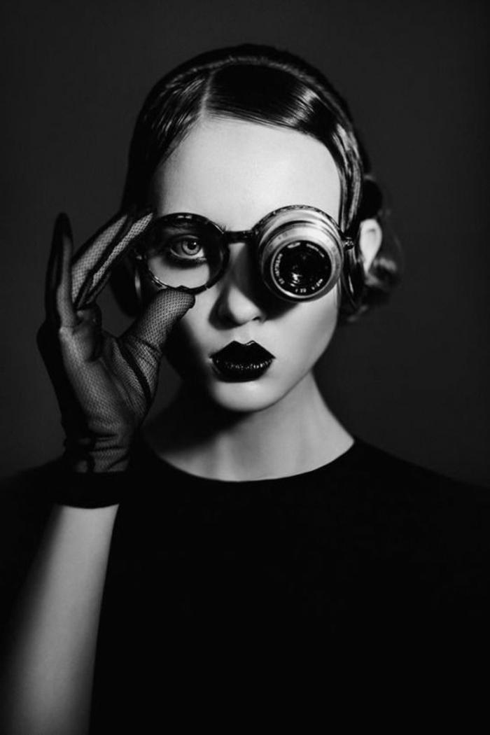 portrait noir et blanc  u2013 l u2019 u00e9l u00e9gance des cadres et la