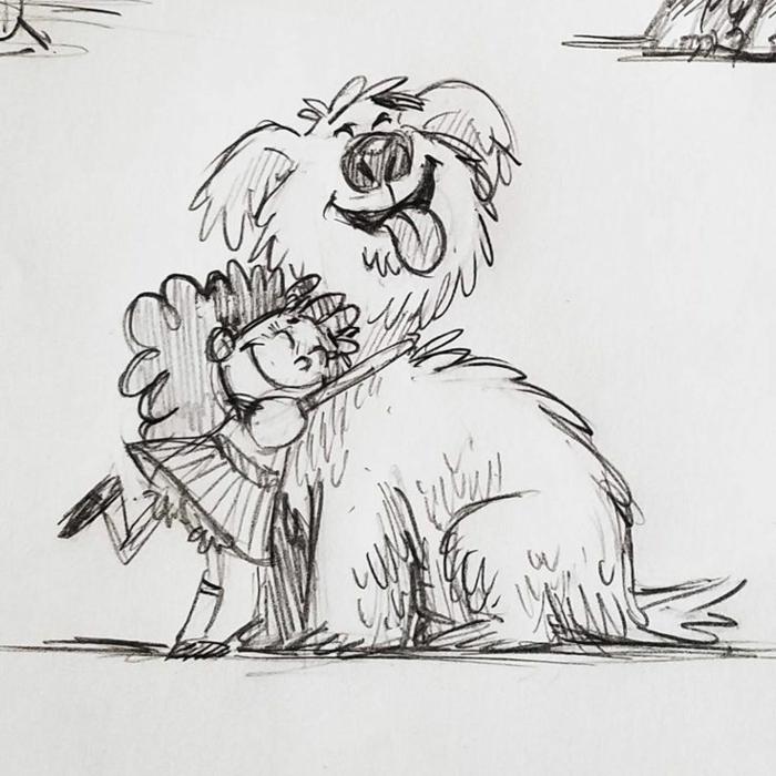 Offrir un carte de voeux à sa meilleure amie dessin amie chien