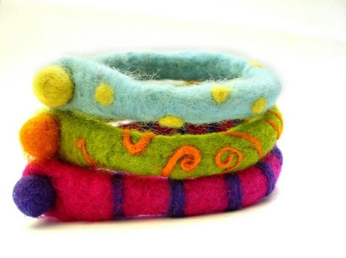 bricolage avec de la laine, que fabriquer avec de la laine, mêches de laine entremêlées
