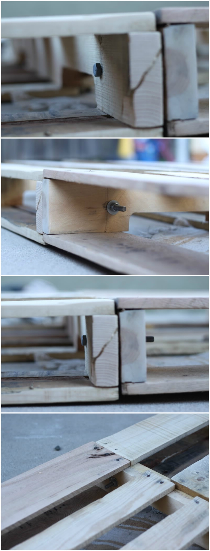 meubles palettes pour la terrasse et le jardin, montage pas-en-pas d'un canapé d'extérieur en palettes