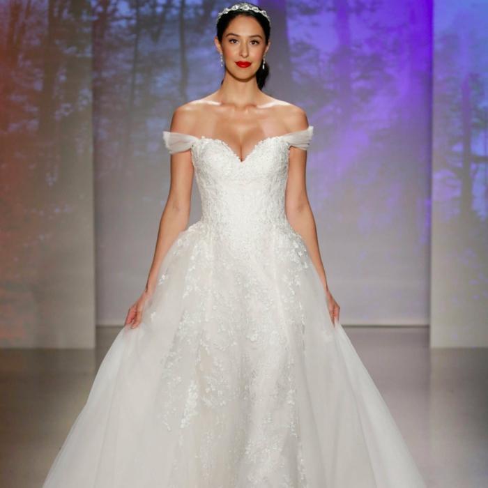 robe de mariée princesse, robe printemps 2017, silhouette classique pour une robe de mariée
