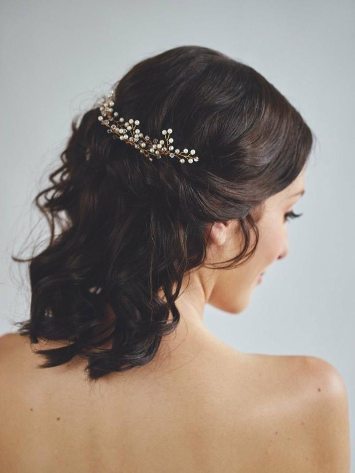 Joie coiffure de mariée cheveux mi long coiffure marier se coiffer