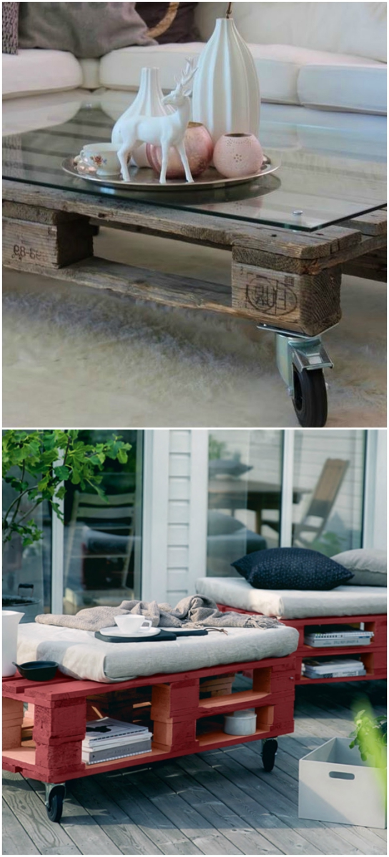 meuble palette pour l'intérieur et l'extérieur