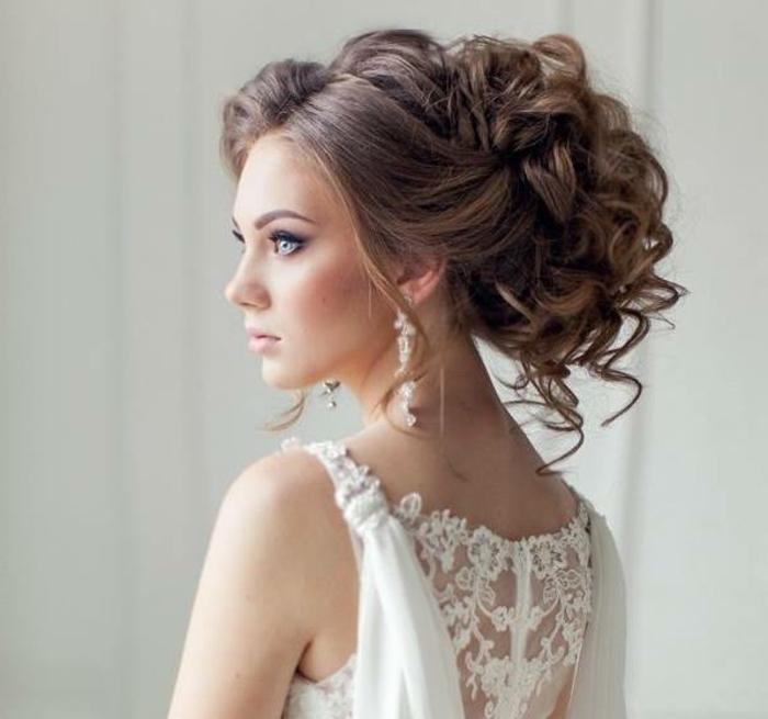 Chignon mariée coiffure mariage modele de coiffure belle