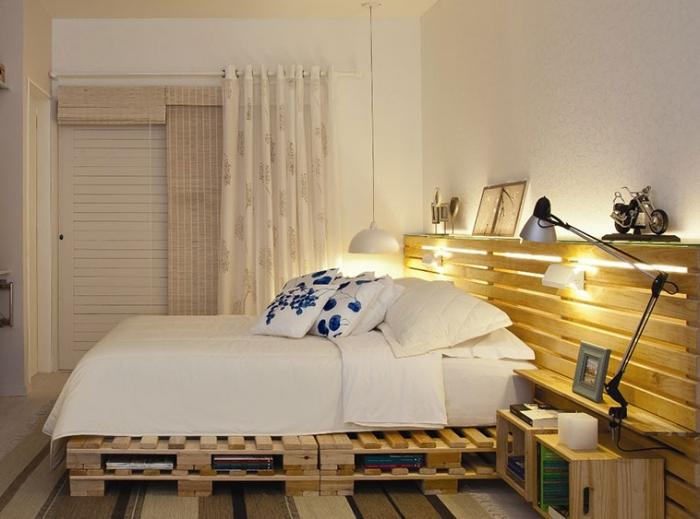 la t te de lit en palette de bois fabriquer soi m me en plusieurs mod les inspirants obsigen. Black Bedroom Furniture Sets. Home Design Ideas